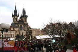 Chợ Giáng sinh Séc lộng lẫy chào đón du khách