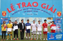 Kết thúc Giải bóng đá học sinh Hà Nội tranh Cup Number 1 Active