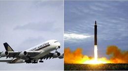Singapore Airlines đổi đường bay tránh tên lửa Triều Tiên