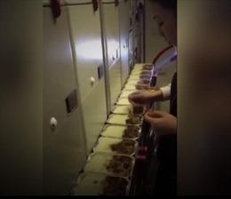 Rò rỉ video ăn đồ thừa của khách, nữ tiếp viên bị đình chỉ