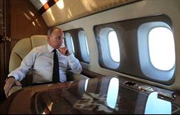 Tổng thống Putin bị tiêm kích Su-35 Nga 'hút hồn' trên bầu trời Syria