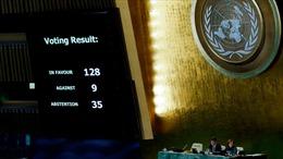 Sợ Mỹ cắt viện trợ, một loạt nước bỏ phiếu trắng nghị quyết Jerusalem