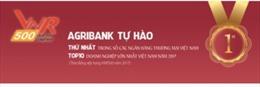 Agribank đứng trong TOP10 Bảng xếp hạng 500 Doanh nghiệp lớn nhất Việt Nam năm 2017