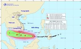 Siêu bão Tembin giật tới cấp 15, di chuyển nhanh vào bờ biển Nam Bộ