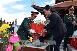 Kon Tum: Truy điệu và an táng hài cốt liệt sỹ hy sinh tại chiến trường Chư Tan Kra