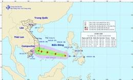 Đêm 2/1, áp thấp nhiệt đới đi vào Biển Đông