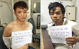 Vừa giật tài sản, 2 tên cướp bị trinh sát truy đuổi bắt nóng