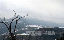 Nhiệt độ giảm xuống âm 0,3 độ C tại khu vực đỉnh núi Mẫu Sơn