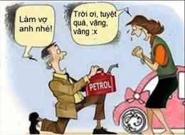 Tăng giá xăng: Những bức ảnh chế 'độc'
