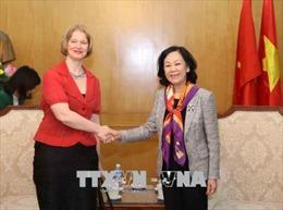 Trưởng Ban Dân vận Trung ương Trương Thị Mai tiếp Đại sứ New Zealand