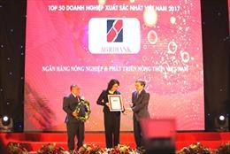 Agribank đứng TOP10 trong 500 doanh nghiệp lớn nhất Việt Nam năm 2017