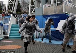 Hàng trăm người dân Nhật Bản diễn tập sơ tán ứng phó tên lửa Triều Tiên