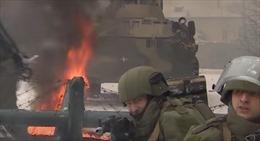 Công binh Nga xông pha khói lửa trong bộ quân phục trang bị đến tận răng