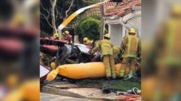 Trực thăng rơi trúng nhà dân tại Mỹ, 3 người thiệt mạng