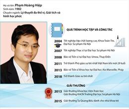 Phạm Hoàng Hiệp trở thành Giáo sư trẻ nhất Việt Nam năm 2017