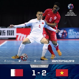 Đánh bại Bahrain, futsal Việt Nam thắp lên hy vọng đi tiếp