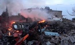 Video Su-25 Nga rơi tự do sau khi trúng tên lửa tại Syria