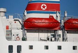 Tàu chở đoàn nghệ thuật Triều Tiên cập cảng Hàn Quốc