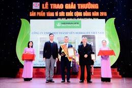 Herbalife Việt Nam nhận giải thưởng 'Sản phẩm Vàng vì Sức khỏe cộng đồng' năm 2018