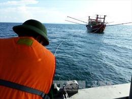 Lai dắt tàu cá bị nạn ở vùng biển Vũng Tàu về bờ