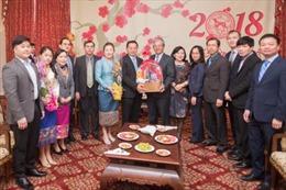 Đại sứ Lào tại Mỹ đến chúc Tết Đại sứ quán Việt Nam