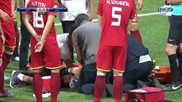 Pha gãy tay 'rùng rợn' của thủ môn đội tuyển Việt Nam tại AFC Cup 2018