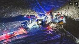 Nhân chứng kể lại khoảnh khắc máy bay Nga nổ rung chuyển, bốc cháy giữa trời