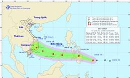 Bão Sanba giật cấp 10 di chuyển nhanh vào biển Đông