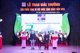 International Elken VN nhận giải thưởng vàng 'Vì sức khoẻ cộng đồng'