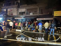 Điều tra vụ cháy thiêu rụi 3 ngôi nhà liền kề tại Kon Tum