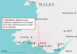 Xảy ra động đất mạnh nhất trong một thập kỷ ở Anh