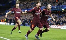 Chelsea 'tuột tay' chiến thắng trong gang tấc, Lionel Messi 'phá dớp' ghi bàn