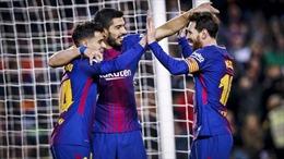 Philippe Coutinho, Lionel Messi, Luis Suarez cùng lập công, Barcelona 'dội mưa bàn thắng' lên Girona