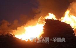 Hỏa hoạn thiêu rụi một xưởng gỗ ở Lâm Đồng