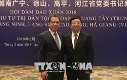 Hợp tác 4 tỉnh biên giới Việt Nam với tỉnh Quảng Tây, Trung Quốc ngày càng hiệu quả