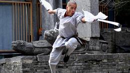 Video đại sư Thiếu Lâm thi triển tuyệt kỹ phi kim xuyên kính