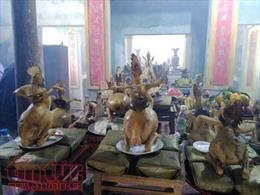 Độc đáo lễ chồng cỗ cao ở làng quê Hà Tĩnh