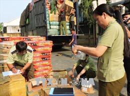 Phát hiện xe tải biển số nước ngoài chở 290 hộp tân dược không chứng từ