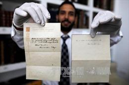 Bức thư của thiên tài Einstein được bán hơn 100.000 USD
