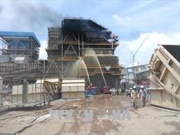 Dập tắt đám cháy tại công trường Nhà máy điện Duyên Hải 3 mở rộng