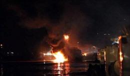 Đã dập tắt được đám cháy tàu dầu Hải Hà 18 tại Hải Phòng
