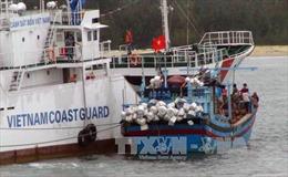 Lai kéo tàu cá cùng 9 ngư dân gặp nạn trên biển về đảo Phú Quý an toàn