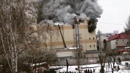 Cháy trung tâm thương mại ở Nga, 3 trẻ em và 1 phụ nữ thiệt mạng