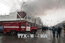 Gần 150 thương vong và mất tích trong vụ cháy trung tâm thương mại ở Nga