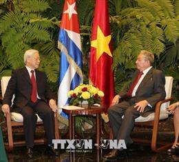 Chủ tịch Cuba Raul Castro đón, hội đàm với Tổng Bí thư Nguyễn Phú Trọng