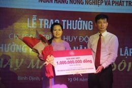 Agribank trao Giải đặc biệt 1 tỷ đồng cho chương trình 'Kỷ niệm 30 năm thành lập Agribank – May mắn nhân đôi'