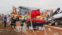 Quảng Ninh: Hết ngày 5/4 mới dập tắt vụ cháy Nhà máy sản xuất sơ sợi