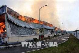 Chưa thể xác định chính xác thiệt hại trong vụ cháy Nhà máy sản xuất sợi ở Quảng Ninh