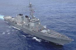 Tàu khu trục Mỹ mang tên lửa rẽ sóng tiến về vùng biển Syria