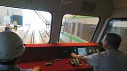 Xem clip chạy thử tàu đường sắt dự án Cát Linh - Hà Đông